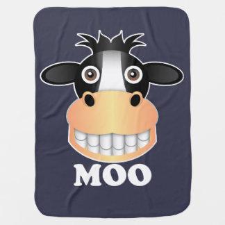 Moo - Baby Blanket Receiving Blankets