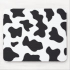 MOO Black and White Dairy Cow Pattern Print Gifts Mouse Mat