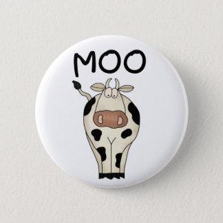 Moo Cow 6 Cm Round Badge