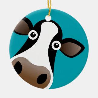 Moo Cow Christmas Ornament