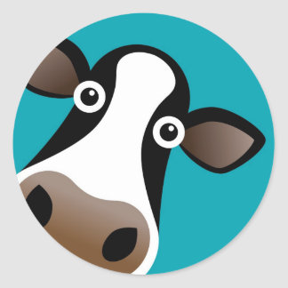 Moo Cow Classic Round Sticker