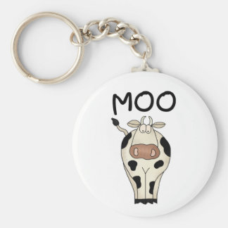 Moo Cow Basic Round Button Key Ring