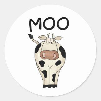 Moo Cow Round Sticker