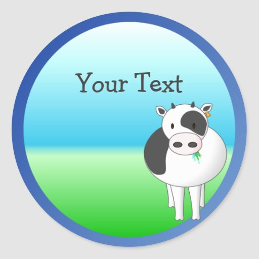 Moo-Cow Stickers