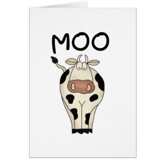 Moo Cow Tshirts and Gifts Greeting Card