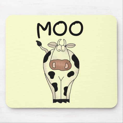 Moo Cow Tshirts and Gifts Mousepad