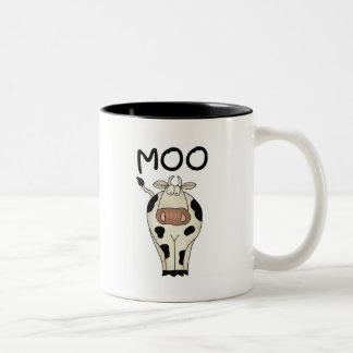 Moo Cow Tshirts and Gifts Two-Tone Coffee Mug