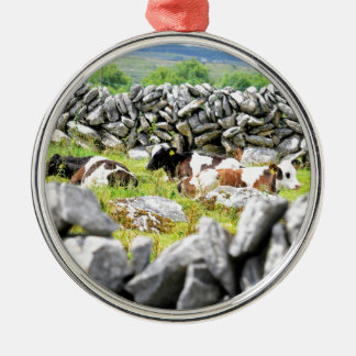 Moo Cows Silver-Colored Round Decoration