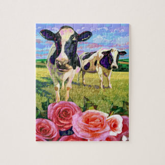 MOO COWS SMELLING OF ROSES PUZZLE