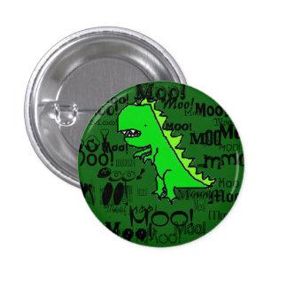 Moo! Dinosaur 3 Cm Round Badge