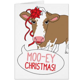 Moo-ey Christmas! Card