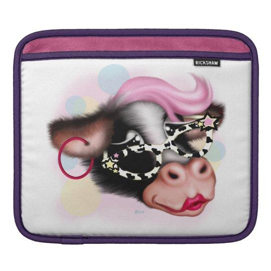 MOO FACE COW CARTOON iPad H iPad Sleeve