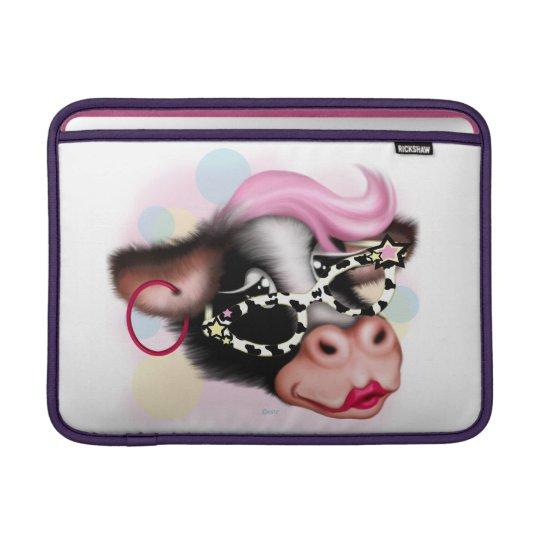"""MOO FACE COW CARTOON Macbook Air 13"""" Sleeve For MacBook Air"""