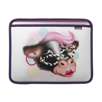 "MOO FACE COW CARTOON Macbook Horizontal Air 13 "" MacBook Sleeve"