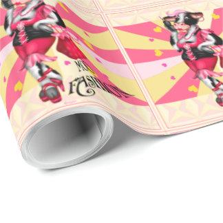 "MOO FASHION COW CARTOON Wrapping Paper 30"" x 15'"