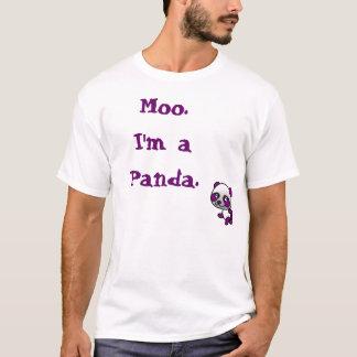 """Moo.I'm a Panda""  T-shirt"