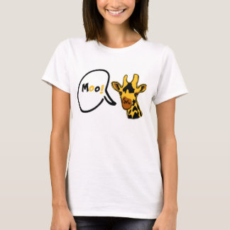Moo-ing Giraffe tee for ladies