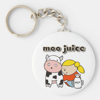 Moo Juice Tshirts and Gifts Basic Round Button Key Ring