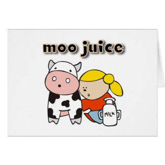 Moo Juice Tshirts and Gifts Greeting Card