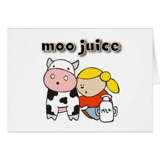 Moo Juice Tshirts and Gifts Greeting Card