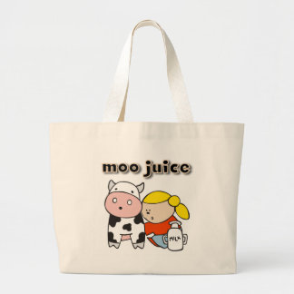 Moo Juice Tshirts and Gifts Jumbo Tote Bag