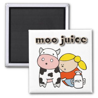 Moo Juice Tshirts and Gifts Square Magnet