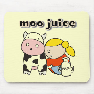 Moo Juice Tshirts and Gifts Mouse Pads