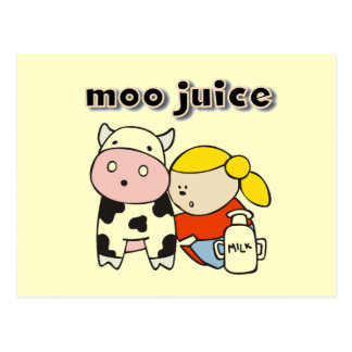Moo Juice Tshirts and Gifts Postcard