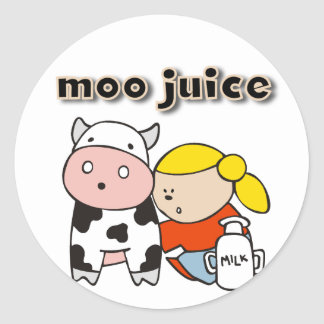 Moo Juice Tshirts and Gifts Stickers