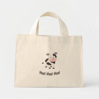 Moo! Moo! Moo! Cute Cow Mini Tote Bag