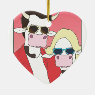 Moo Romance Christmas Ornament