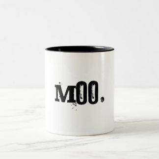 Moo. Two-Tone Coffee Mug