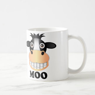 Moo - White 11 oz Classic White Mug Basic White Mug