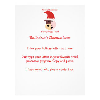Moo-y Christmas and Happy Hoggy Days Personalized Flyer