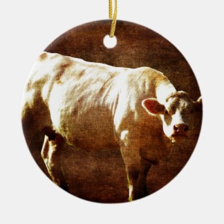 Moo You're on my Land Round Ceramic Decoration