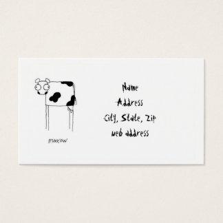MooCow business card