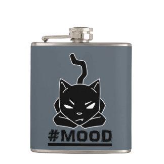 #MOOD Black Cat illustration Hip Flask