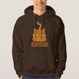 #MOOD Cat Orange Logo Illustration Hoodie