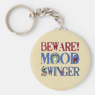 Mood Swinger Basic Round Button Key Ring