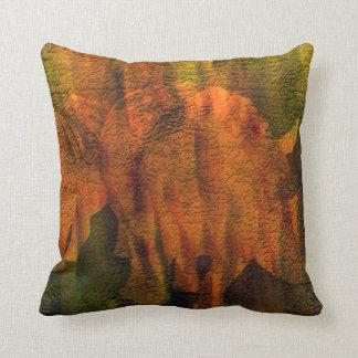 Moods Of Africa - Rhinos Art Designer Pillow