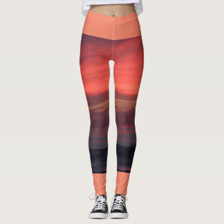 Moods of Peach Sunset leggings
