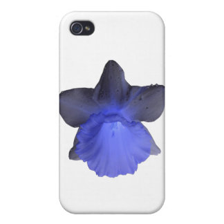 Moody Blue Dripping Daffodil  Cases For iPhone 4