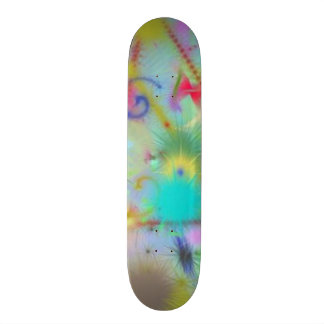 Moody Blue Thoughts Teal Blue Green Color Abstract Skateboards