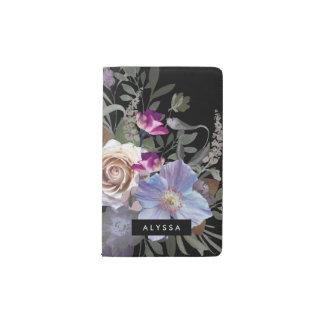 Moody Dark Floral Pocket Moleskine Notebook