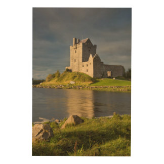 Moody Dunguaire Castle, Vertical Wood Print