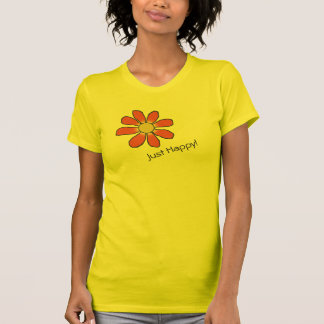 Moody Just Happy Graphic Red Flower all Colors Tees