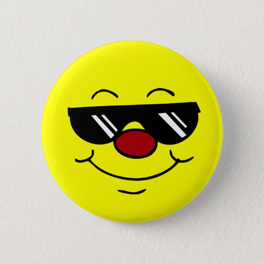 Moody Smiley Face Grumpey 6 Cm Round Badge