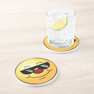 Moody Smiley Face Grumpey Coaster