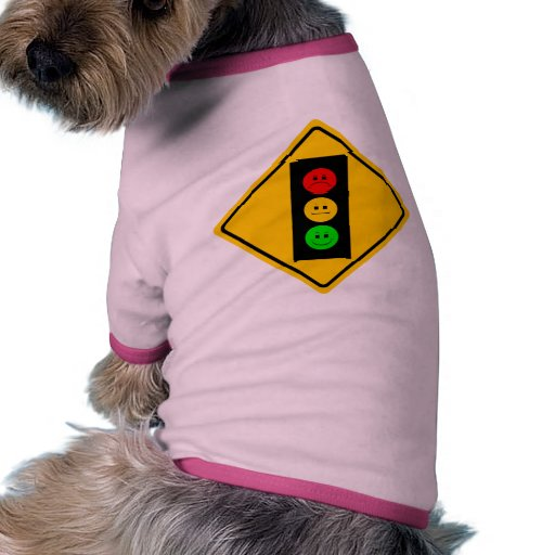 Moody Stoplight Ahead Dog Tee Shirt