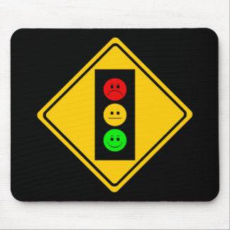 Moody Stoplight Ahead Mouse Mat